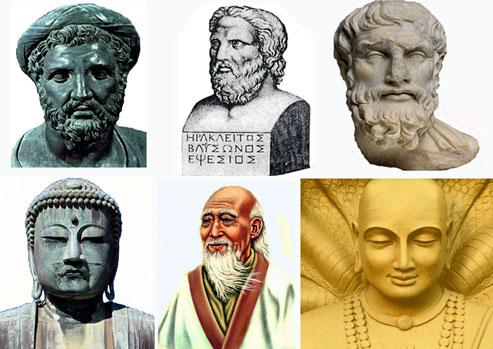 Πυθαγόρας, Ηράκλειτος, Επίκουρος, Βούδας, Λάο Τσου, Πατάντζαλι