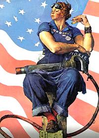 Αμερικάνα εργάτρια με τζιν κατά τον Β' Παγκόσμιο Πόλεμο.